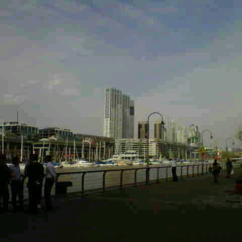 Photo taken at Puerto Madero by Charly C. on 8/23/2012