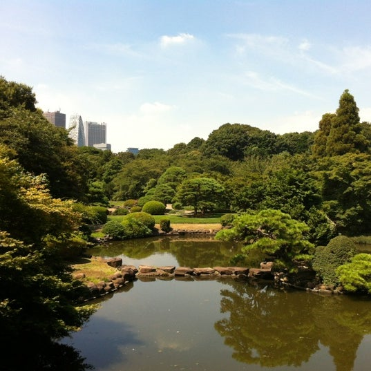 Photo taken at Shinjuku Gyoen by Michael M. on 8/25/2012