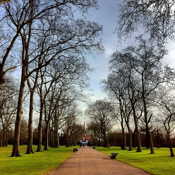 Photo taken at Kensington Gardens by Fashionising.com on 2/20/2012