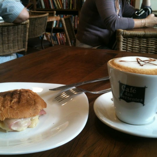 Photo taken at Café Book by Paulo Leonardo C. on 5/2/2012