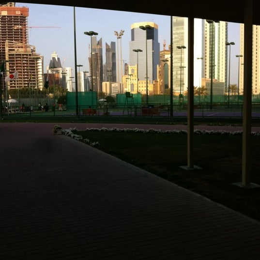 Photo taken at Qatar Tennis Federation by Ahmed A. on 3/13/2012