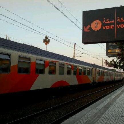 Photo taken at Gare de Mohammédia  محطة المحمدية by Jalil E. on 2/15/2012