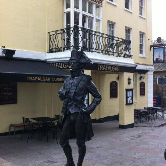 Photo taken at Trafalgar Tavern by Mike ⚽⚽ on 4/19/2012