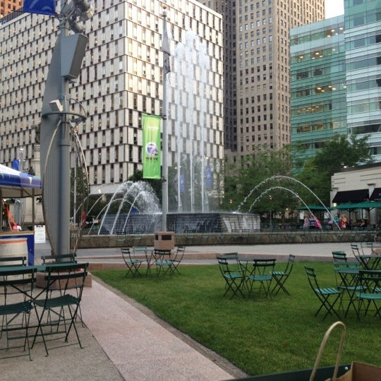 Photo taken at Campus Martius by Gie F. on 7/10/2012