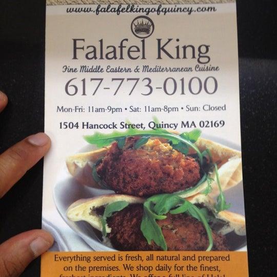 Photo taken at Falafel King by Tej V. on 6/19/2012