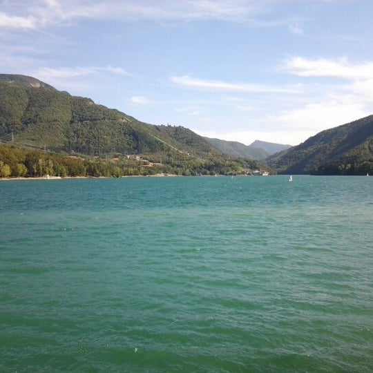 Photo taken at Lago di Suviana by electra n. on 8/16/2012