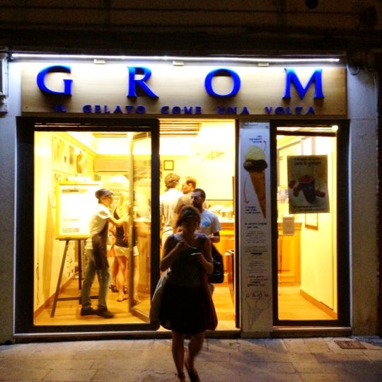 Photo taken at Grom by Ronni Tino on 7/20/2012