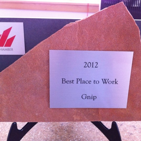 """Check out our """"Best Place to Work"""" award"""
