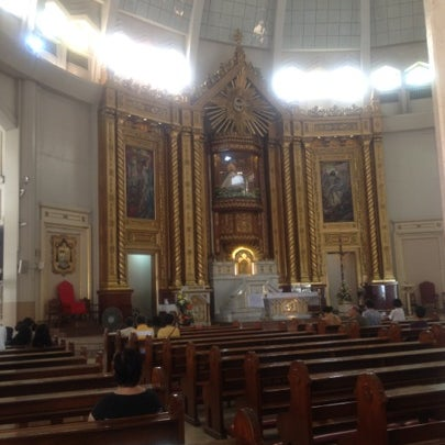 Photo taken at National Shrine of Our Lady of Peace and Good Voyage (Antipolo Cathedral) by Gina on 9/6/2012