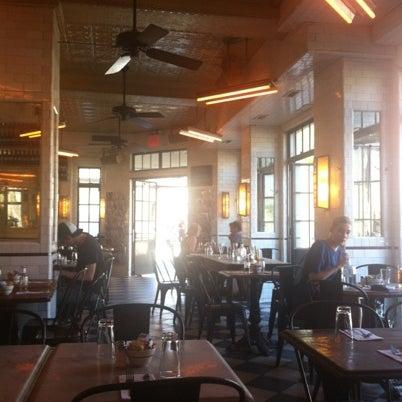 Photo taken at Schiller's Liquor Bar by Yoonie K. on 8/29/2012