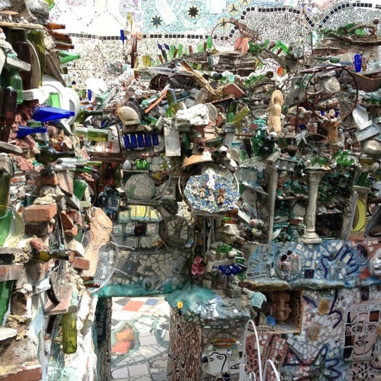 Photo taken at Philadelphia's Magic Gardens by Teresa L. on 4/21/2012