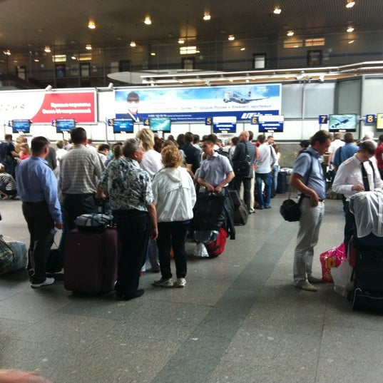 Photo taken at Check-in desk by Григорий Р. on 6/25/2012