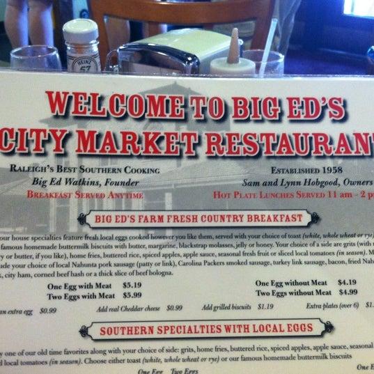 Photo taken at Big Ed's City Market Restaurant by Christie on 8/5/2012