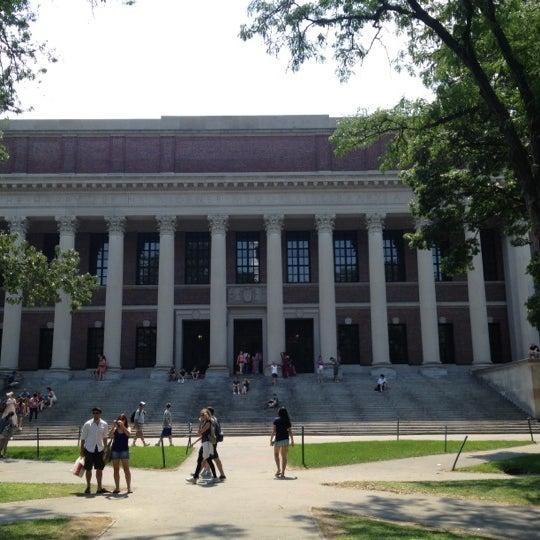Photo taken at Widener Library by Karsten H. on 8/4/2012