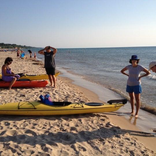Photo taken at Silver Beach by Matt T. on 7/12/2012