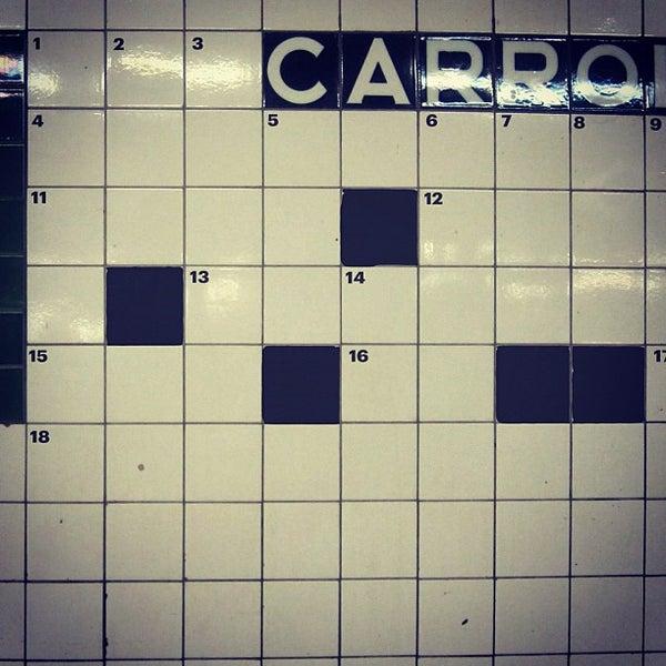 Photo taken at MTA Subway - Carroll St (F/G) by christian svanes k. on 6/19/2012
