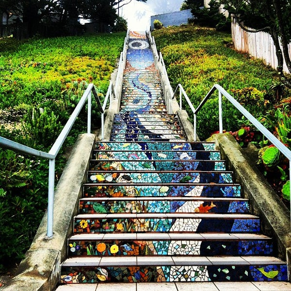 Art Places In San Francisco: Golden Gate Heights Mosaic Stairway