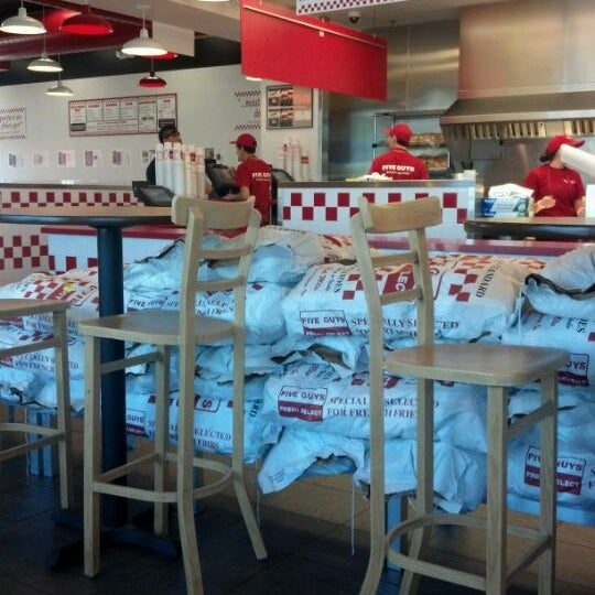 Photo taken at Five Guys by Robin O. on 4/2/2012