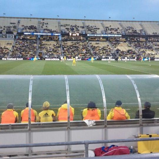 Photo taken at MAPFRE Stadium by Brad G. on 4/21/2012