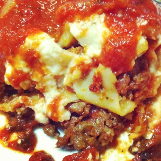 Beef lasagne is good!