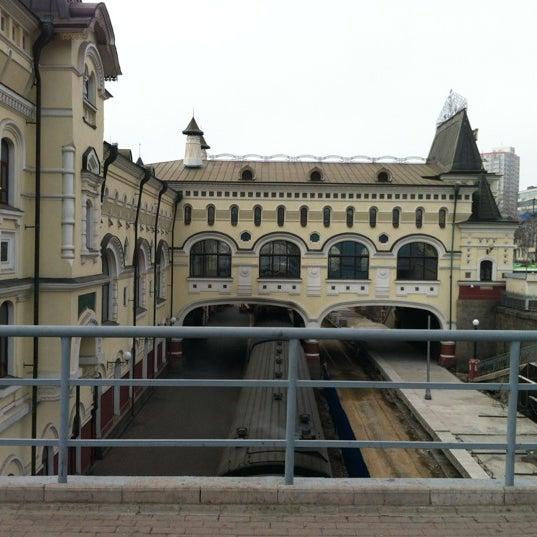 Photo taken at Железнодорожный вокзал Владивостока / Vladivostok Railway Station by Ирина М. on 4/20/2012