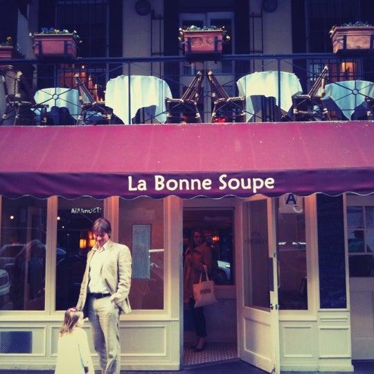 Photo taken at La Bonne Soupe by Danny C. on 4/8/2012