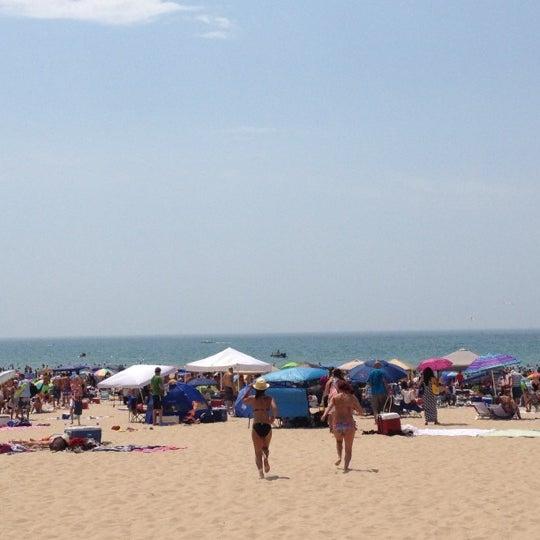 Photo taken at Silver Beach by Austin J. on 7/4/2012