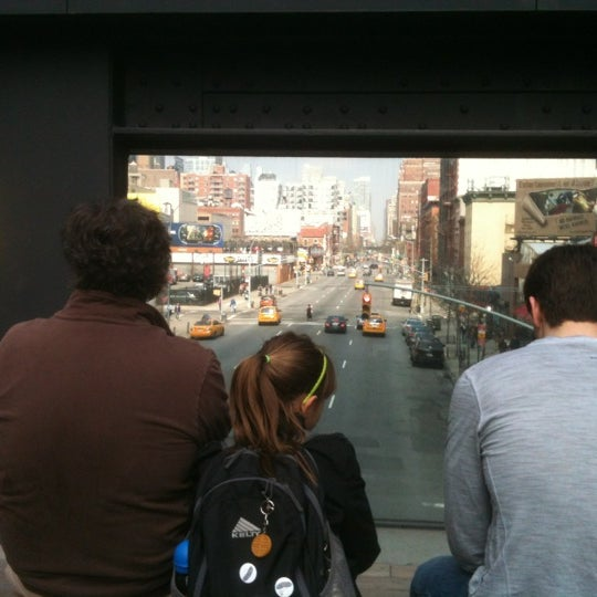 Photo taken at High Line 10th Ave Amphitheatre by Sezin S. on 3/17/2012