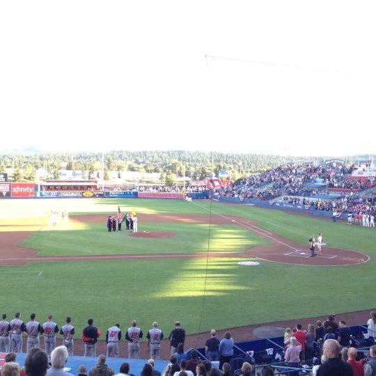 Das Foto wurde bei Spokane Indians Diamond Club von Jack S. am 8/25/2012 aufgenommen