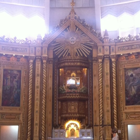 Photo taken at National Shrine of Our Lady of Peace and Good Voyage (Antipolo Cathedral) by Nina L. on 5/12/2012