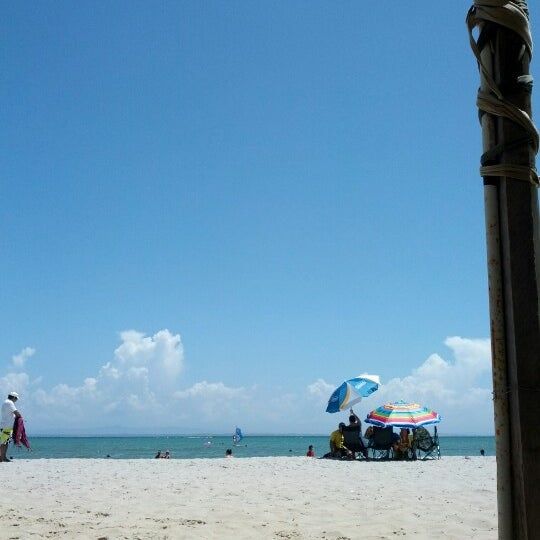 Photo taken at Playa El Yaque by Johanna F. on 9/8/2012