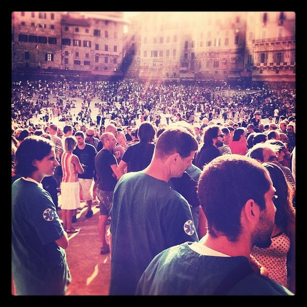 Photo taken at Piazza del Campo by Armando R. on 8/15/2012