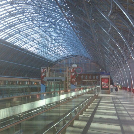 Photo taken at London St Pancras International Railway Station (STP) by Max S. on 7/15/2012