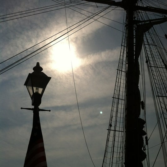 Photo taken at Broadway Pier by Carolyn A. on 4/21/2012