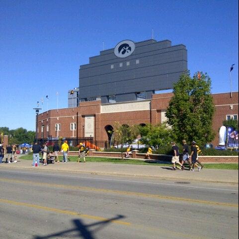 Photo taken at Kinnick Stadium by Adam S. on 9/8/2012