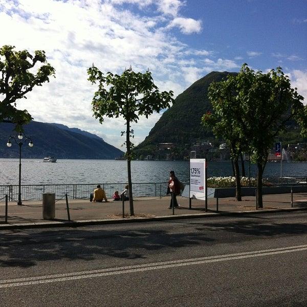 Photo taken at Lago di Lugano by Craig R. on 4/22/2012