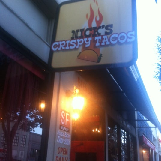 Photo taken at Nick's Crispy Tacos by Madi M. on 2/12/2012
