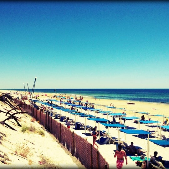 Photo taken at Praia do Barril by Carlos F. on 7/6/2012