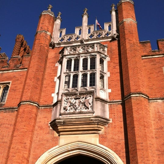 Photo taken at Hampton Court Palace Hotel by Cathy C. on 9/5/2012