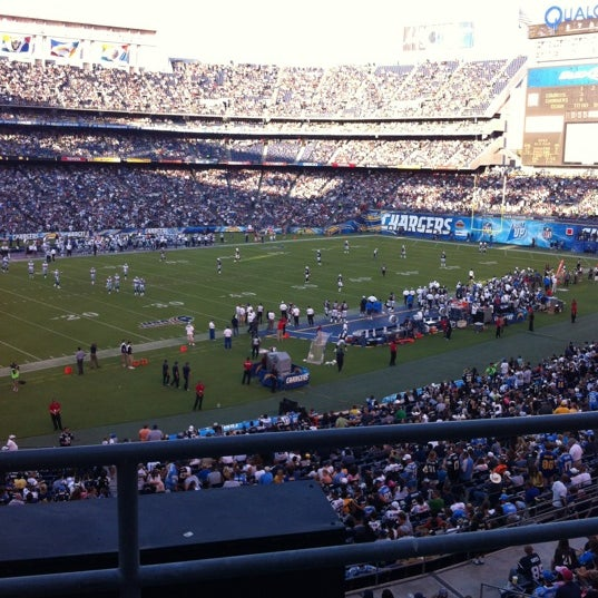 Photo taken at Qualcomm Stadium by Pepe A. on 8/19/2012