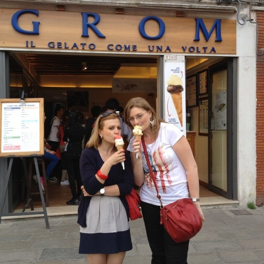 Photo taken at Grom by Andrei B. on 5/9/2012