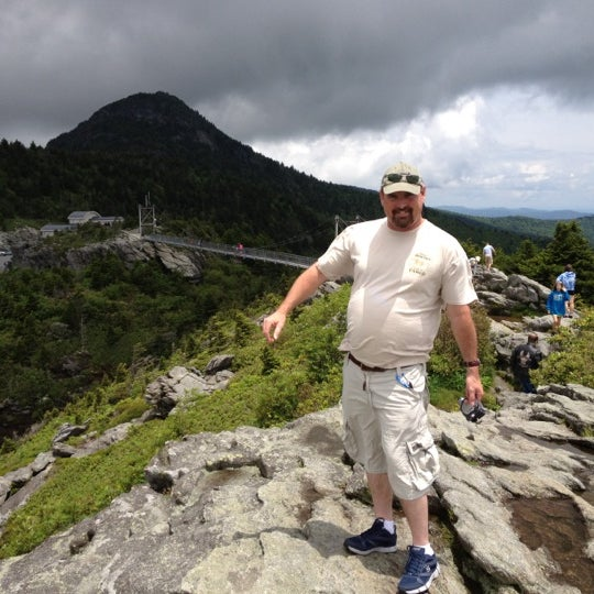 Photo taken at Grandfather Mountain by Tony M. on 6/13/2012