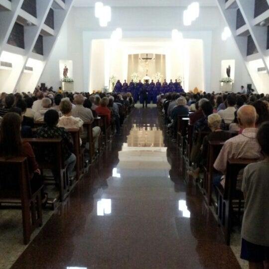 Photo taken at Paróquia Santa Mônica by Mauricio Y. on 5/28/2012