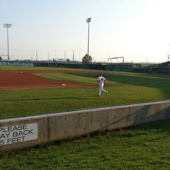 Photo taken at Brent Brown Ballpark by Christopher M. on 8/18/2012