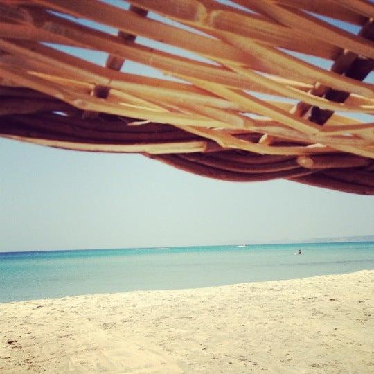 Photo taken at Ramo Beach by Sıla A. on 7/23/2012