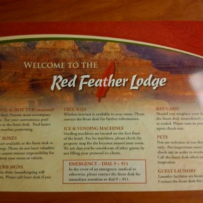 Photo taken at Red Feather Lodge Grand Canyon by Shingo O. on 5/3/2012