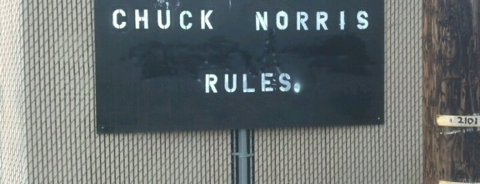 Chuck Norris Rules Sign is one of To Do in....
