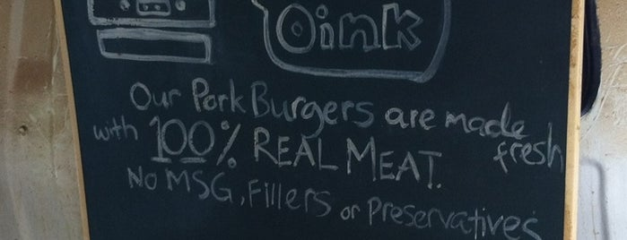 Oink! Oink! Pork Burger is one of Burgers! !.
