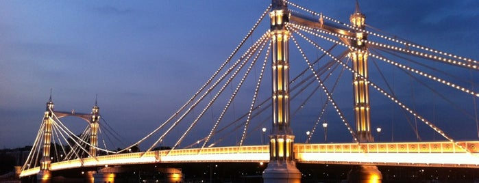 Albert Bridge is one of Hand Drawn Map of London.