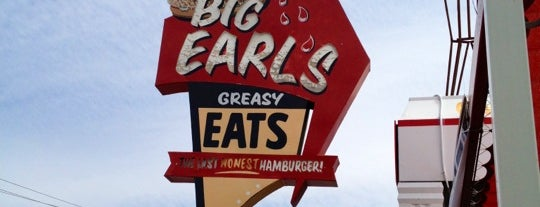 Big Earl's Greasy Eats is one of Biker Friendly Places.